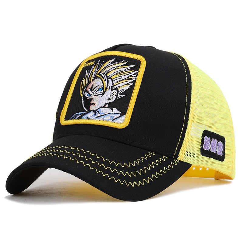 جديد العلامة التجارية لعبة دراغون بول Z غوكو فيغيتا ماجين قبعة البايسبول سناب باك الرجال النساء الهيب هوب قبعة سائق شاحنة أبي قبعة عالية الجودة دروبشيبينغ