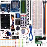 Miroad Complete Starter Kit For Arduino With Uno R3 LCD Sensor Motor AVR MCU Super Learning