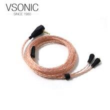 OCC cabo intercambiáveis fone de ouvido cabos para GR07 VSONIC/GR09 3.5mm 2.5mm