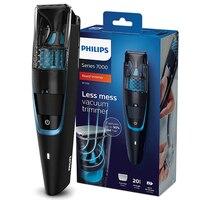 Philips вакуумный триммер для бороды модельер беспроводной и проводной 1 час быстрая зарядка для мужчин электробритва бритва BT7201/15 черный