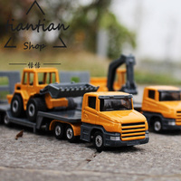 Alloy Car Model Engineering Vehicles Trailer Digging Machine Shovel Truck Children S Car Toys Give The