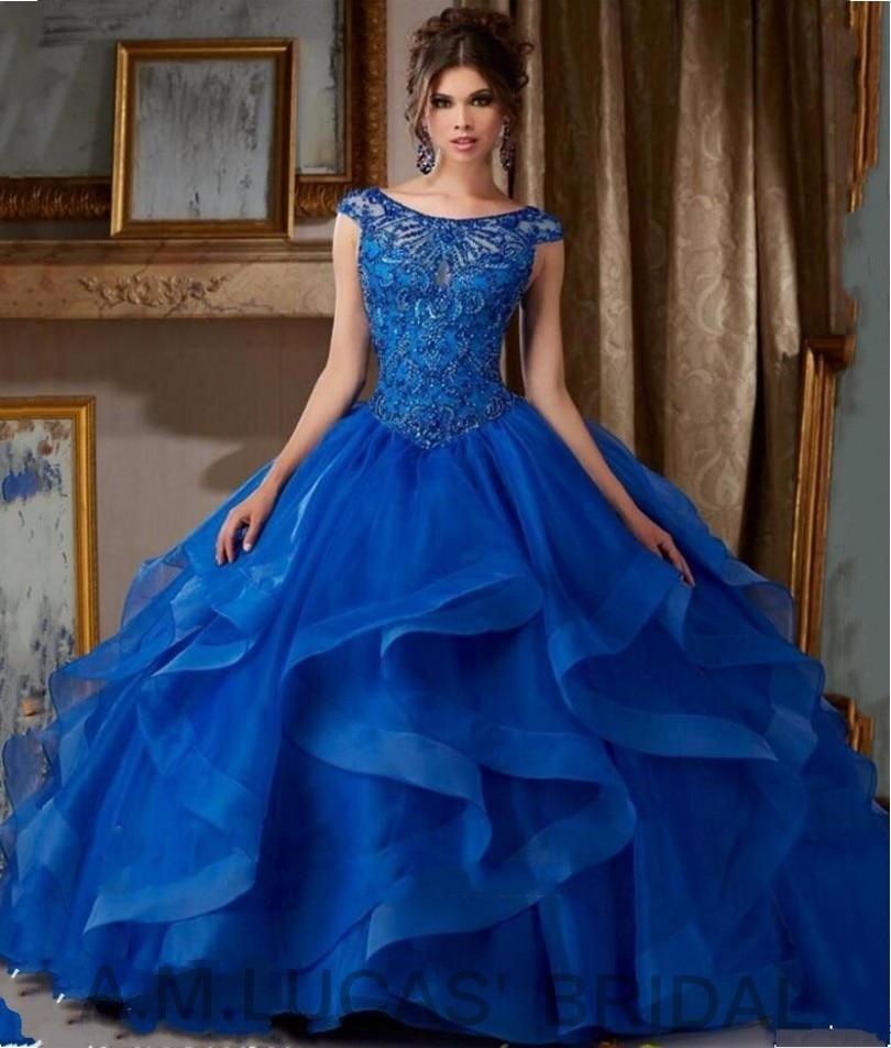Vestido de 15 Anos Azul Royal