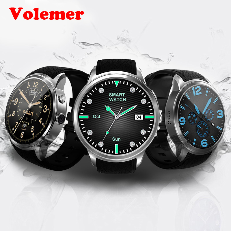 Volemer DI01 Smart Watch 1GB/16G Android 5.1 Heart Rate Monitor IP67 Support 3G WIFI GPS SIM card MTK6580 Smartwatch Android IOS w308 android 3g smartwatch heart rate tracker smart watch support sim wifi gps g sensor smartwatches for android ios smartphone