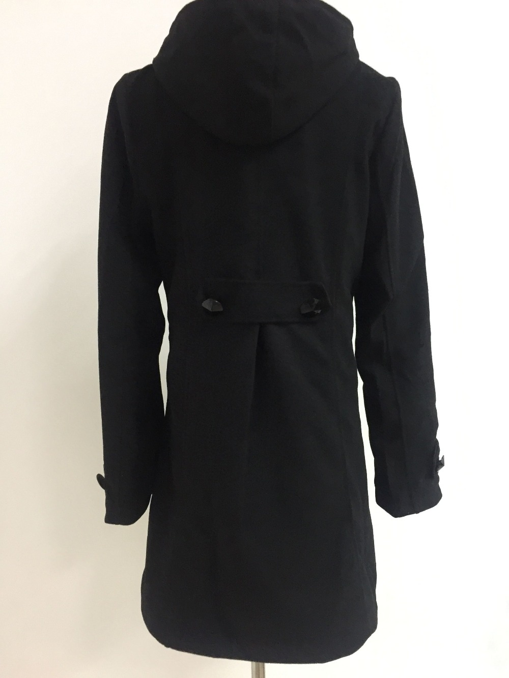Elegant Coat for Women Pockets Casual Hooded Wool Coat and Jacket Solid Autumn Winter Women Clothes 2018 Plus Size 3XL 4XL 13