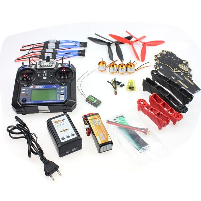 DIY RC Drone Racer Vliegtuigen Onderdelen: CC3D Controller Versie Q330 Frame Flysky FS-i6 6CH Zender Motor ESC F11797-L