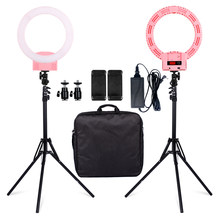 SH LED Photographic Lighting 3200-5600K Photo Light For Camera Phone Makeup Photography Ring Light Selfie Lamp Stand Ringlight(China)