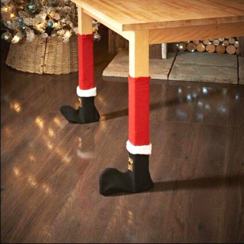 Fashion 4 Pcs Santa Claus Chair Leg Foot Covers Lovely Table Decoration Christmas Decorations For Home Christmas New Year