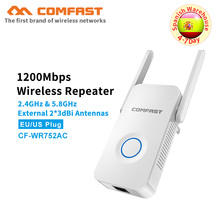 Comfast 1200Mbps gigabit Wireless WiFi Repeater WiFi Signal Amplifier AC Wireless Router Wi Fi Range Extender Expand Booster AP comfast cf ac100 full gigabit ac authentication gateway routing 880mhz core gateway wifi project manager with 5 1000mbps ports