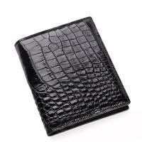 Crocodile skin Men wallet Multicard Genuine Leather coin purse Corss Pattern Men wallet