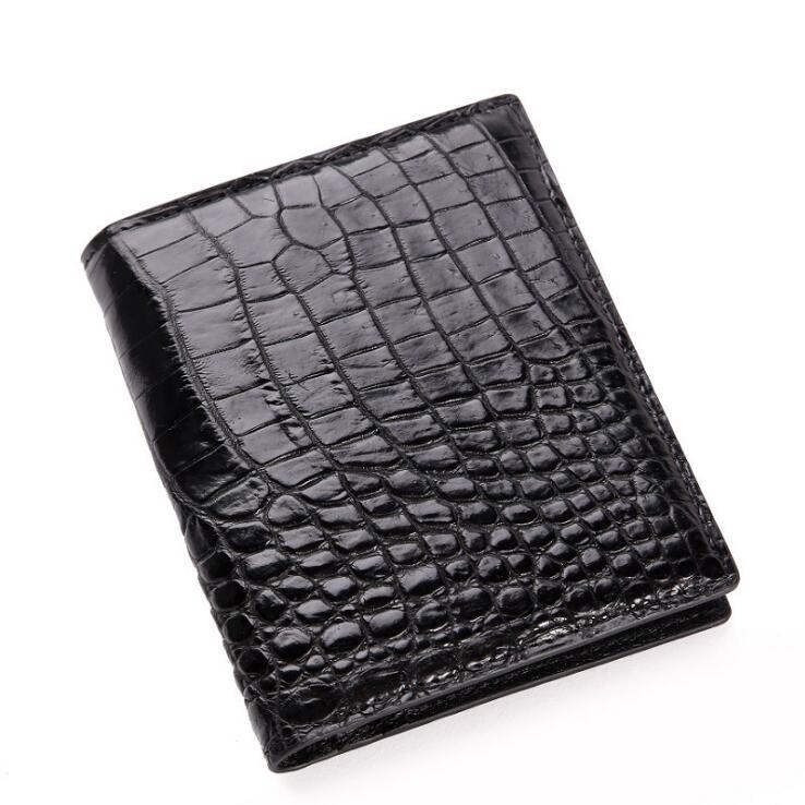 Crocodile skin Men wallet Multicard Genuine Leather coin purse Corss Pattern Men wallet free freight python skin handmade men wallet multicard genuine leather coin purse corss pattern men wallet