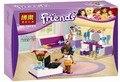 BELA Amigos 76 unids Dormitorio de Andrea Bloques de Construcción de Regalos de Navidad Juguetes Compatible Legoe Amigos Para La Muchacha Desarrollar Intelectual