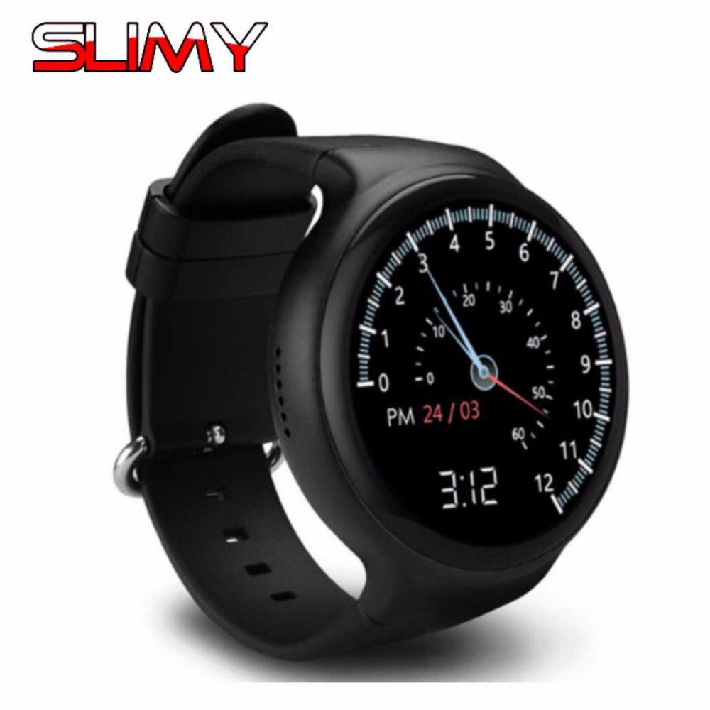Slimy Bluetooth Smart Watch Android MTK6580 Quad Core 1.39inch 1G+16G I4 Heart Rate Wristwatch for Android IOS Smartphone bluetooth smart gv08 android