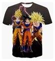 Классический Dragon Ball Z Гоку Вегета 3d тенниска Женщин мужчины Аниме Супер Саян броня футболки лето повседневная tee рубашки