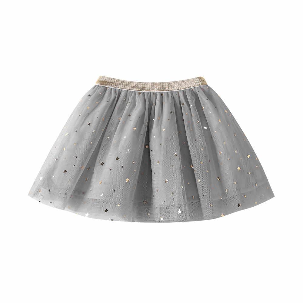 Moda bebé niñas princesa estrellas lentejuelas fiesta danza faldas tutú para ballet tule falda niñas niños falda