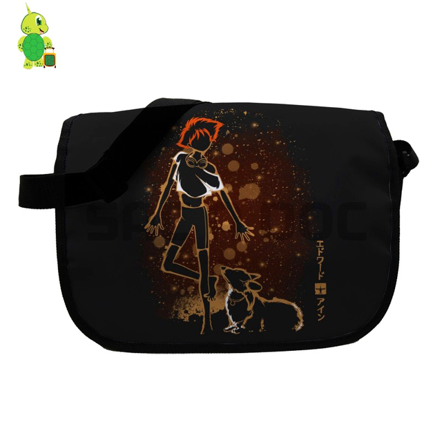 a3c3aad759c4 Anime Cowboy Bebop Spike Fluorescence Messenger Bag for Teenage Boys Girls  School Shoulder Bags Women Men Crossbody Handbag