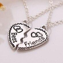 Сердце-образный Ожерелье Лучший Друг Письмо Женщины Подарки 2 шт. Ювелирные Изделия Подарок для Лучших Друзей