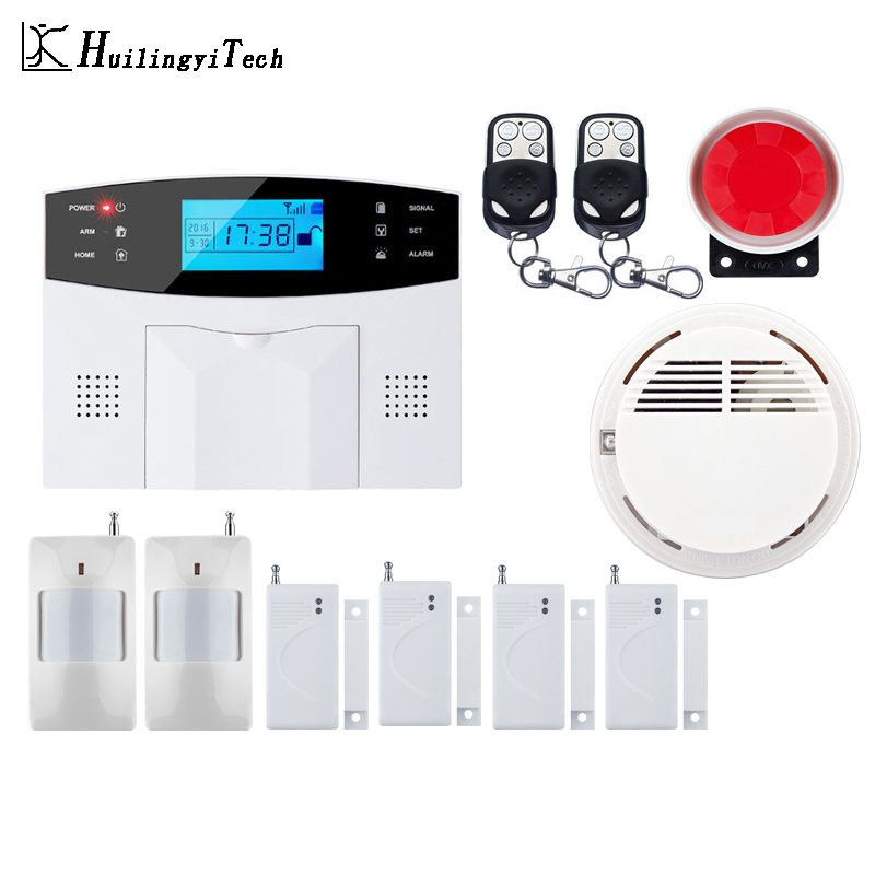 Wireless GSM Alarm System DIY Kit APP Control Auto Dial Home Alarm Security Motion Detector Sensor House Burglar Alarm System цена