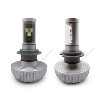 2PCS*40W 6000LM Auto Cr-ees LED H7 single beam All in One Car Headlight Conversion Kit Driving fog Lamp 6000-6500K