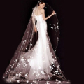 3 Meters White/Ivory Long Cathedral Wedding Veils Flowers Bridal Veil Wedding Accessories Veu de Noiva Longo Free Ship