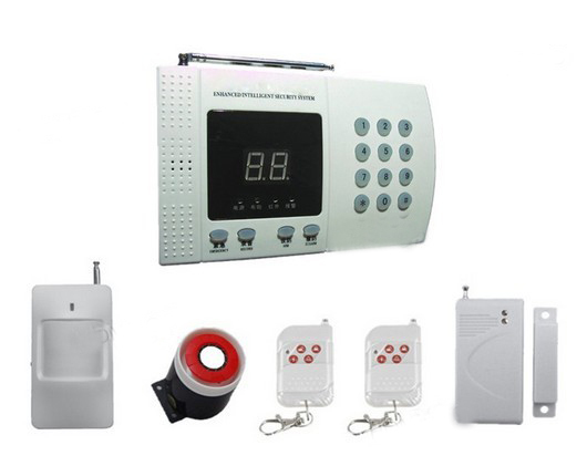 New Wireless PIR Home Security Burglar Alarm System Auto Dialing Dialer  Easy DIY PSTN alarm