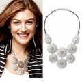 European fashion jewelry Medina Bib silver necklace -Free Shipping