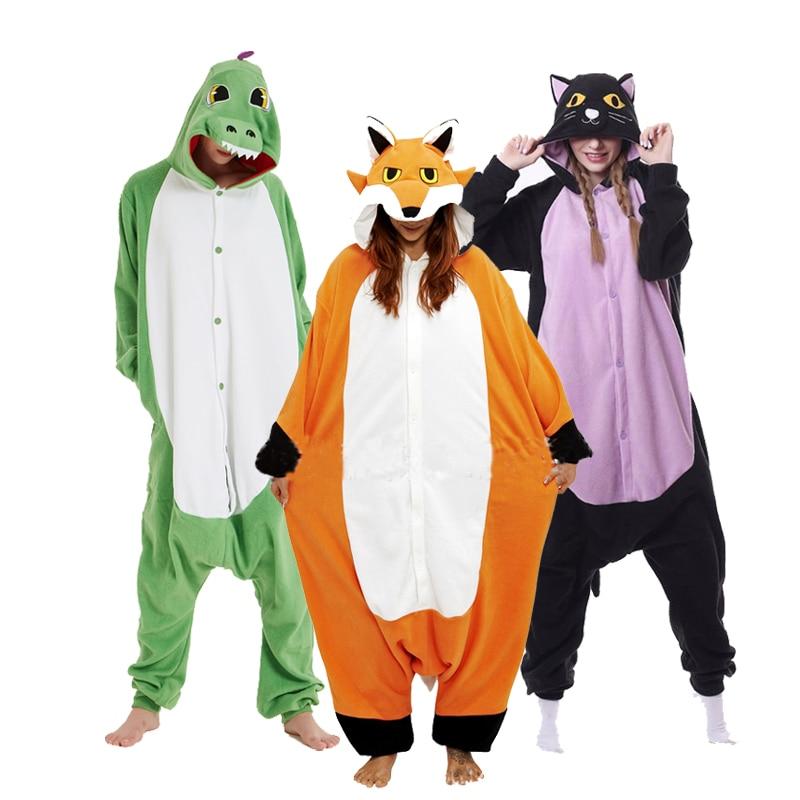 XXL Onesie Women Animal Pajamas Cartoon Onesies For Adults One-piece Jumpsuit Animal Pijamas Women Pyjamas Cosplay Costume