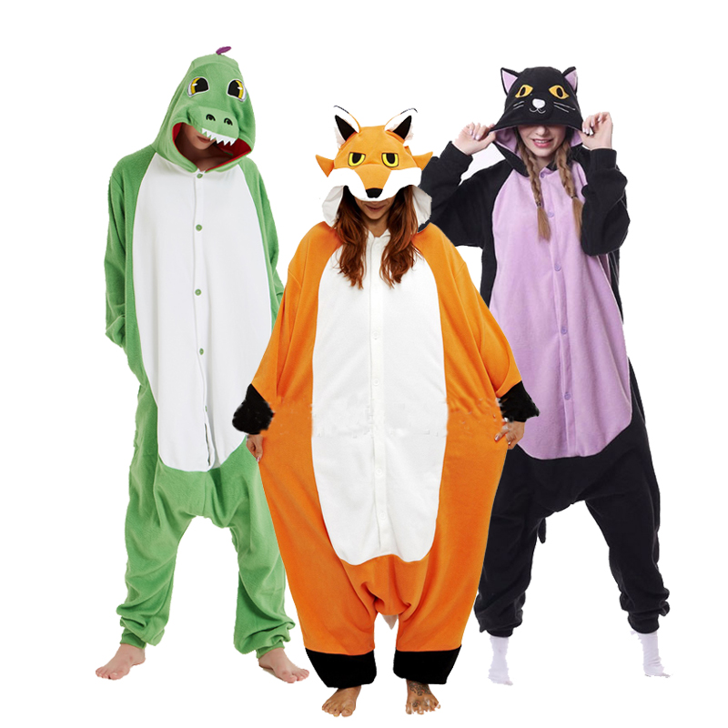 XXL Onesie Women Kygurumi Animal Pajamas Cartoon Onesies For Adults One-piece Pijamas Jumpsuit Anime Mascots Men Cosplay Costume