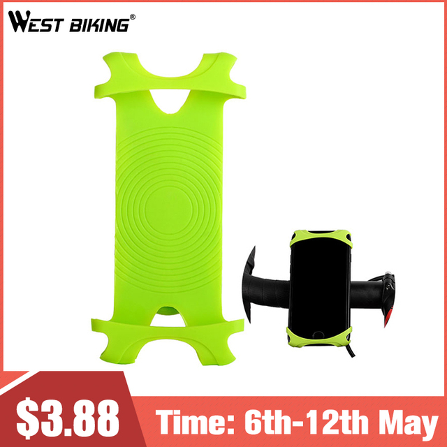 WEST BIKING Bicycle Phone Holder Bike Handlebar Clip Stand 4.0-5.5 inch Universal Mobile Cell Phone Holder GPS Mount Bracket