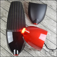 64CM Dirty Bike Cafe Racer Seat Mash Retro Cushion Motorcycle Saddle With Cover And Tail Light Seat Cover