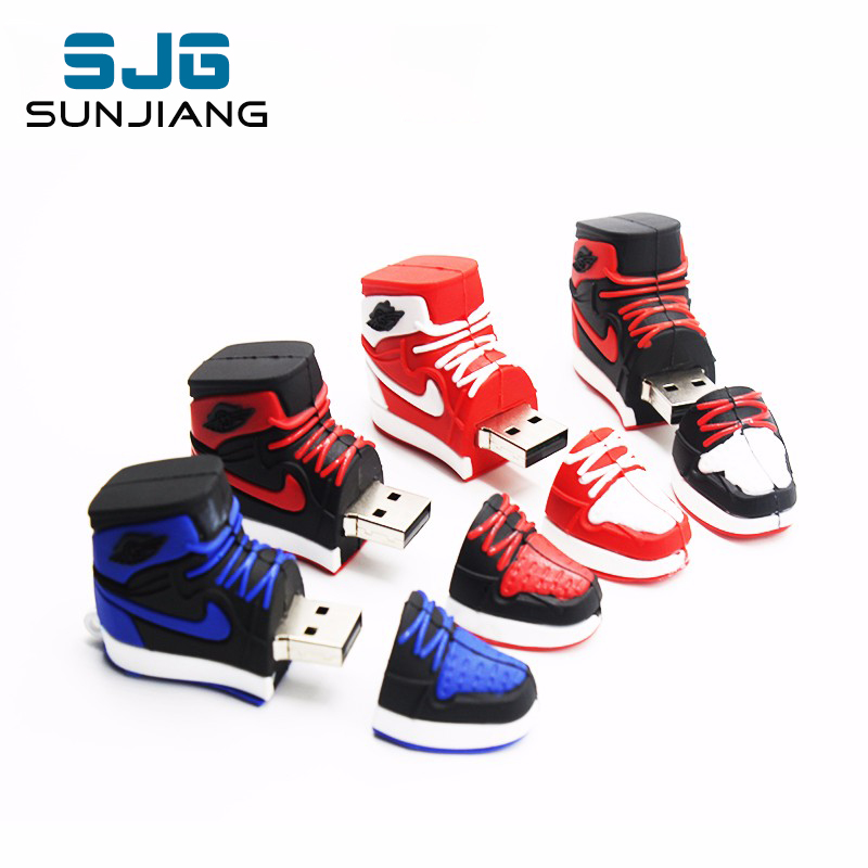 Basketball Shoe usb flash drive 4GB 8GB 16GB 32GB 64GB spoort Shoe pen drive Memory Sticks little gift for boy Pendrive cute image