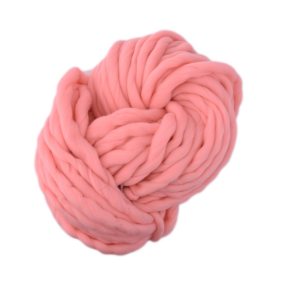 Super tjockt trådgarn 20Color Soft Wool Roving Bulky Big Garn Spinning Hand Stickning Tråd Hackad Garn För Hat Scarf Sticka