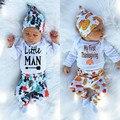 3 unids Gorros Sombrero Del Bebé Bebé de Manga Larga Superior Tees Leggings Harem de Halloween Thanksgiving Dasy Outfit Ropa Disfraz Set