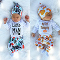 3pcs Baby Beanies Hat Baby Long Sleeve Top Tees Leggings Harem Pants Halloween Thanksgiving Dasy Outfit Costume Clothing Set