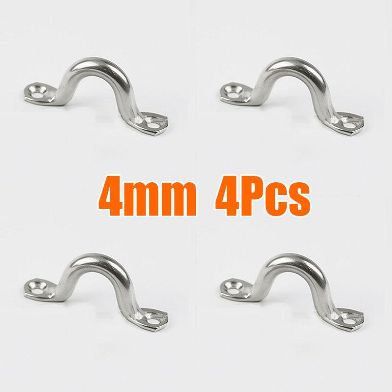 4 шт. проволочные глазные ремни 4 мм 5 мм 6 мм нержавеющая сталь коррозионно-стойкие аксессуары замена прочный