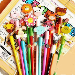 Wooden cartoon pencil child stationery pencil gift stationery animal wool pencil