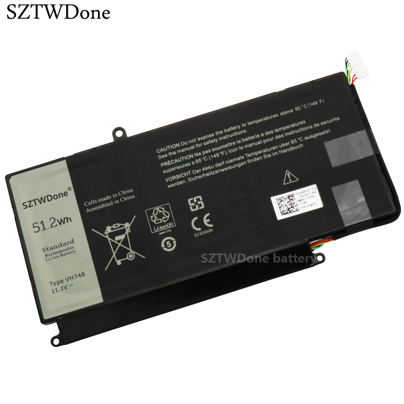 SZTWDone VH748 Laptop battery For DELL Vostro 5460 5470 5560 14 5480 for Inspiron 14 5439 V5460D 1308 V5460D 1318 5470D 1328-in Laptop Batteries from Computer & Office