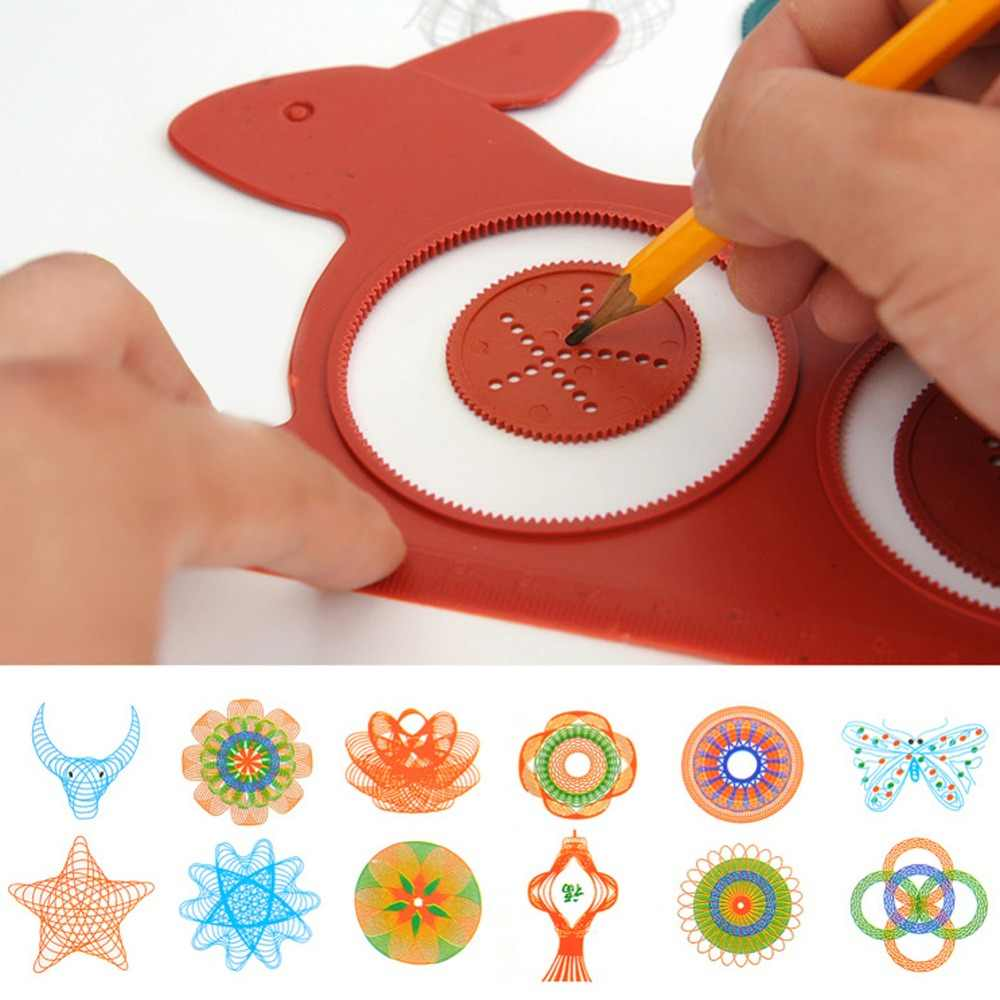 Novelty Spirograph Magic Turtle Rabbit Drawing Board Kids Educational Toy