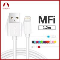 Snowkids MFi для кабеля Lightning-USB 2 шт./партия для iPhone X XR XsMax 8 7 6 5 кабель зарядного устройства iOS12 подарок защита от взлома