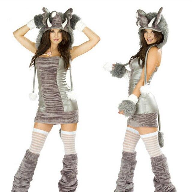 Новинка 2018 года  озорной плюшевый слон сексуальное платье косплей  карнавал животных одежда плюшевые пикантные Покемон 6f1c81fccb887