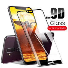 glass for Nokia 2 5 6 7 9 tempered glass for Nokia 2.1 3.1 5.1 6.1 8.1 7.1 Plus X5 X6 X7 glas screen protector film 9d full glue(China)