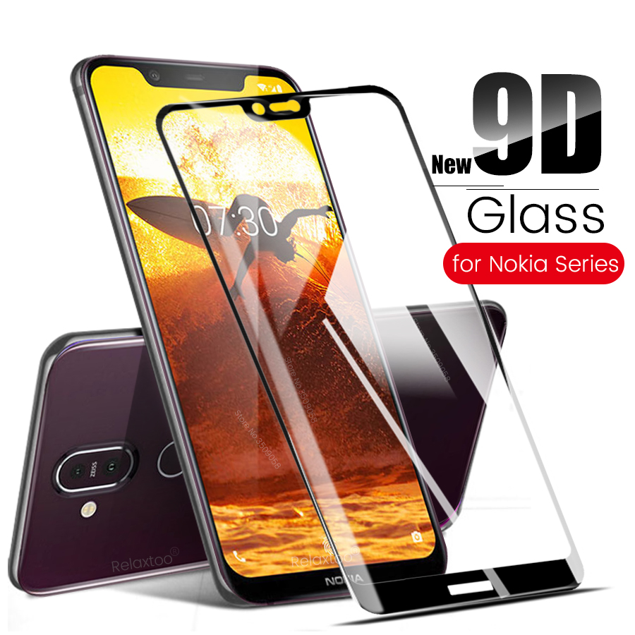 glass for <font><b>Nokia</b></font> 2 5 6 7 9 tempered glass for <font><b>Nokia</b></font> 2.1 3.1 5.1 6.1 8.1 <font><b>7.1</b></font> Plus X5 X6 X7 glas <font><b>screen</b></font> <font><b>protector</b></font> film 9d full glue image