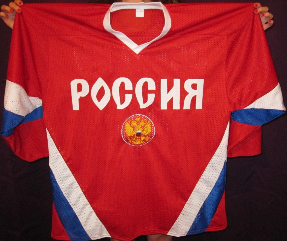 e5804b427 USSR CCCP Team Russian ILYA KOVALCHUK LEXANDER OVECHKIN Hockey Jersey  Embroidery Stitched Customize any number and name