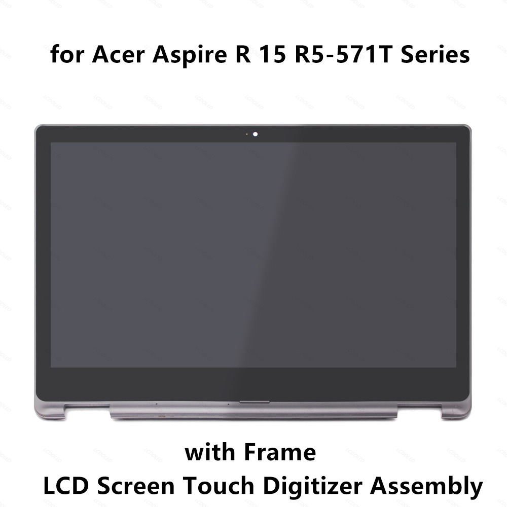 LCD Display Screen Panel Touch Glass Digitizer Assembly Frame for Acer Aspire R15 R5 571T R5
