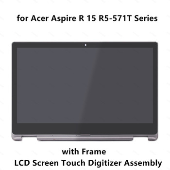 LCD Display Screen Panel Touch Glass Digitizer Assembly+Frame for Acer Aspire R15 R5-571T R5-571T-57Z0 R5-571T-59DC R5-571T-78E
