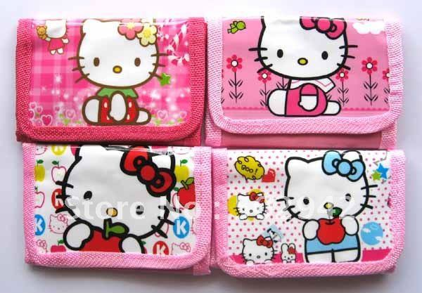 Free Shipping+  lots of 120 pcs Hello Kitty Girl wallet purses gift bags