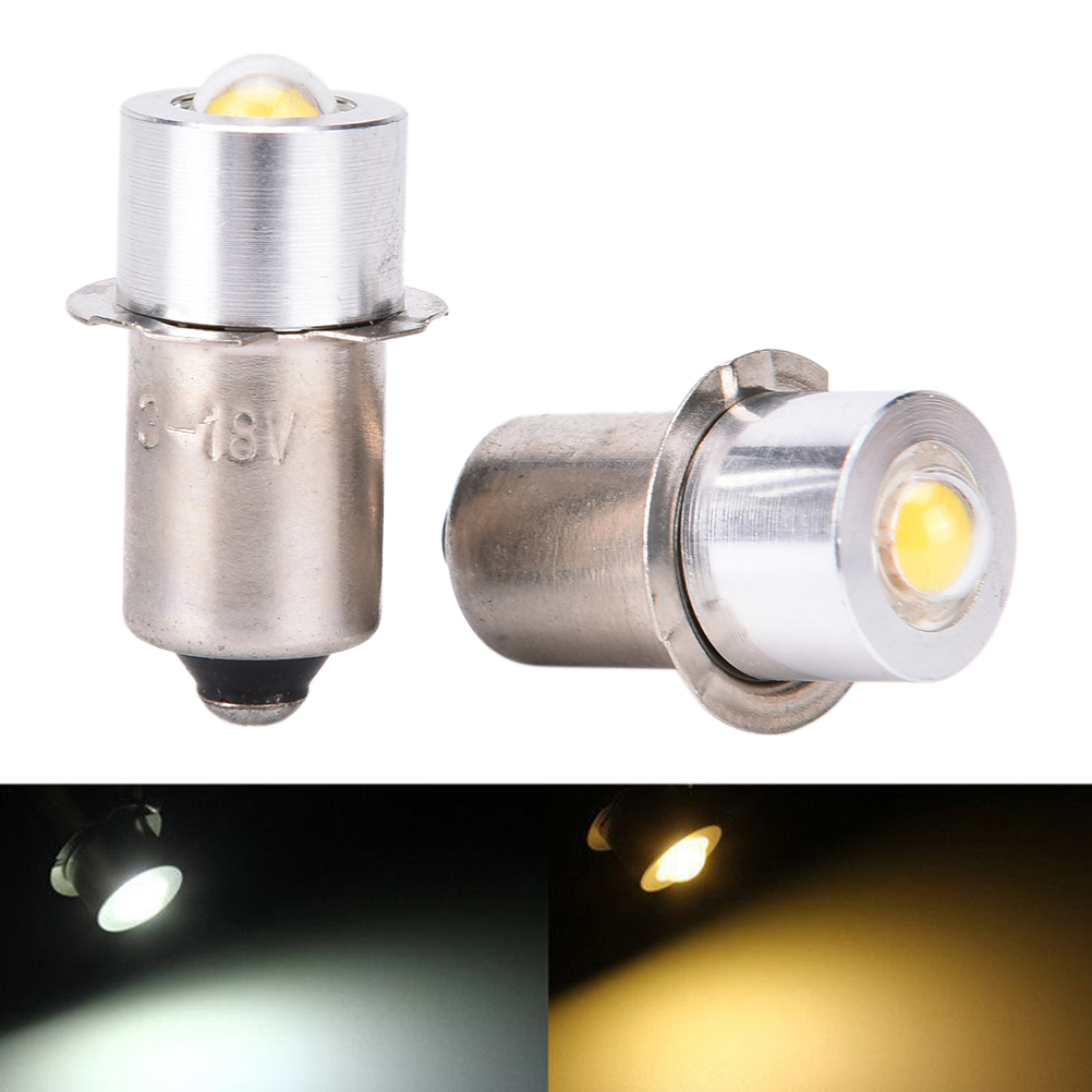 Practical 90Lumen DC3-18V P13.5S PR2 1W LED Flashlight For Interior Bike Torch Spot Lamp Bulb High Brightness Warm/Pure White