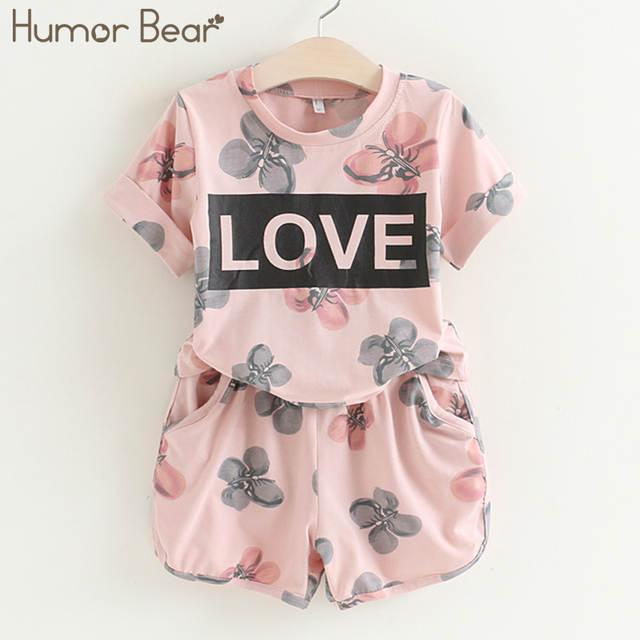 259c21c0ce3 placeholder Juego de ropa para niñas de oso de Humor conjunto de ropa de  perlas para niñas