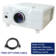 High quality ! USB projector in high definition images to a screen size between 50-120 inch
