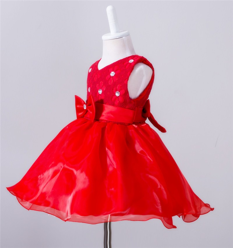Baby Christening Bow Dress (12)
