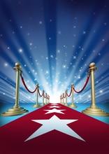 HUAYI Tecido Arte Hollywood Tapete Vermelho Estrela Pano de Fundo pano de fundo a fotografia Fundo Estúdio de Fotografia Prop Newborn D-1412